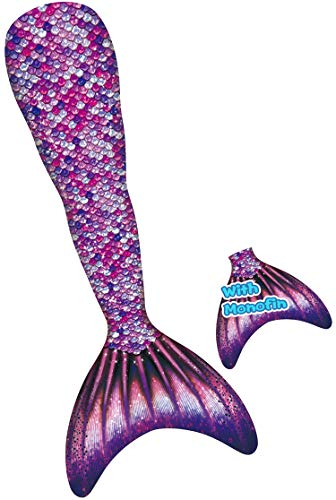 - YITU Mermaid Tails for Swimming with Monofin Swimmable Costume Swimsuit for Kids, Boys and Girls -Gem-120
