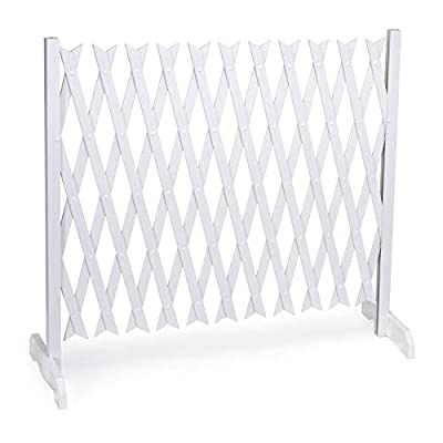 SkyMall 9ft. Expanding Indoor/Outdoor Portable Fence - White