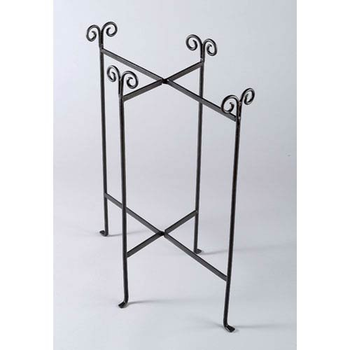 KINDWER Iron Floor Stand for Oblong Tub, Black A1049