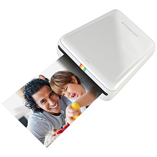 Polaroid Zip Mobile Printer W Zink Zero Ink Printing Technology   Compatible W Ios   Android Devices   White