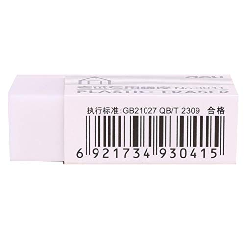 Eraser - Pencil Eraser 45 Pieces Rubber Eraser for Artist Student Stationery Sketch Drawing Cleaner Deli 3041 - by Kamin's - 1 PCs by Kamin's (Image #5)
