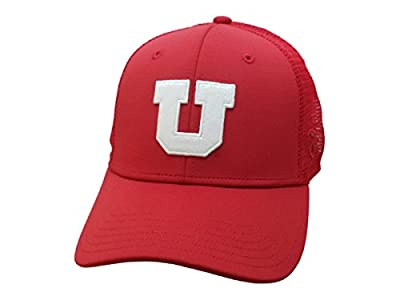 Top of the World Utah Utes TOW Red Swoop Mesh Back Structured Adjustable Snapback Hat Cap by Top of the World