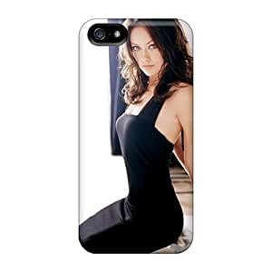 New Style Wade-cases Hard Case Cover For Iphone 5/5s- Olivia Wilde by supermalls