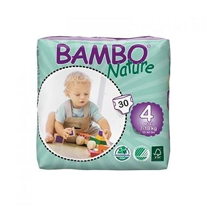 Bambo Nature 4 Maxi – Niños de 8 a 18 kg – 30 Pañales