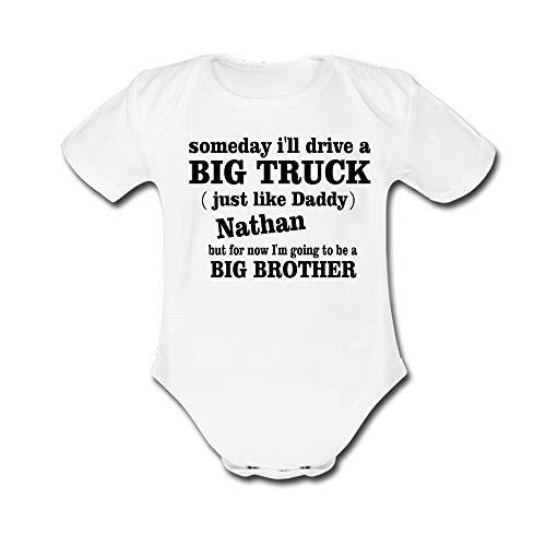 Bernie Gresham Child Bodysuits Someday I'll Drive a Big Truck Baby Sleeve Romper White (Bernie Drives A Truck)
