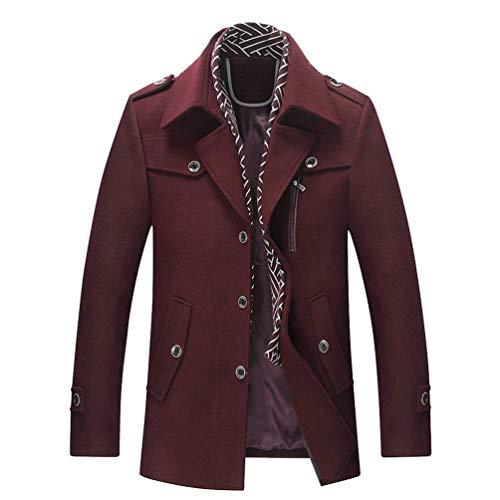 Short Burgund Coat Cappotto Uomo Da Long Invernale Parka Addensata Giacca Giacche Trench PqwU6q