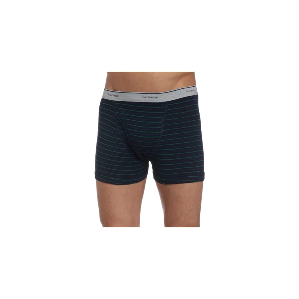 Fruit of the Loom Mens Stripe/Solid Assorted Trunks(Pack of 4)