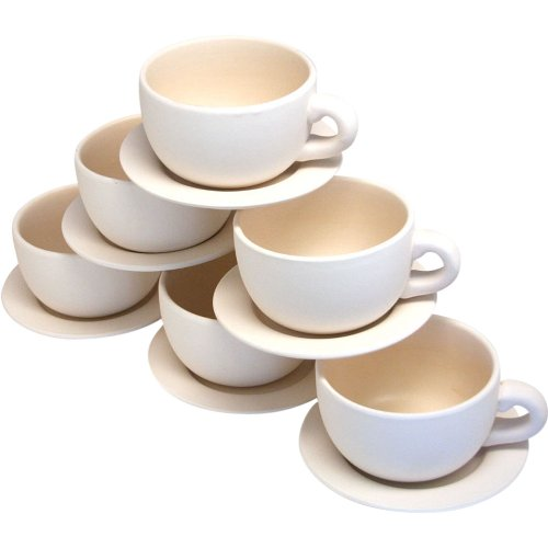 (Fun Express Design Your Own Tea Cup Planters Set (6)