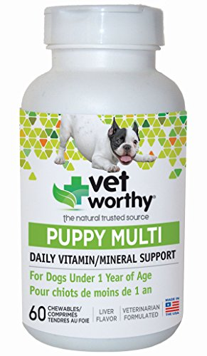Vet Worthy Puppy Multi Vitamin Liver Flavored Chewables for Dogs (60 Count)