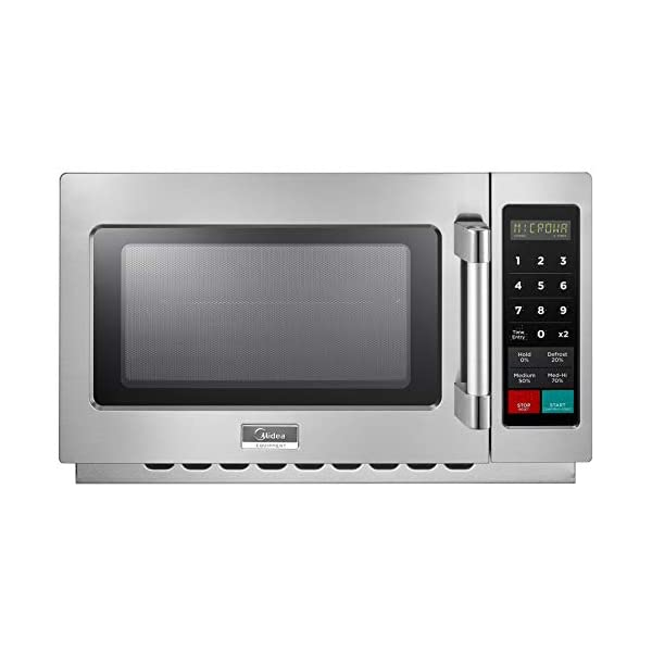 Midea Equipment 1034N1A Stainless Steel Countertop Commercial Microwave Oven, 1000W 1