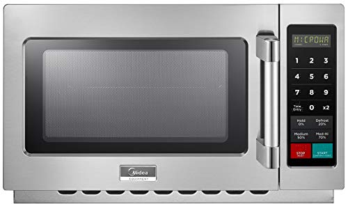 Midea 1034N1A Commercial Microwave, Stainless Steel