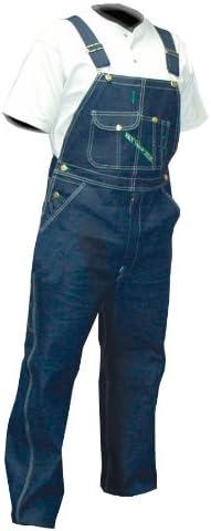 Key Apparel  Men`s Garment Washed Zip Fly High Back Bib Overall - 44 - Rinsed Indigo