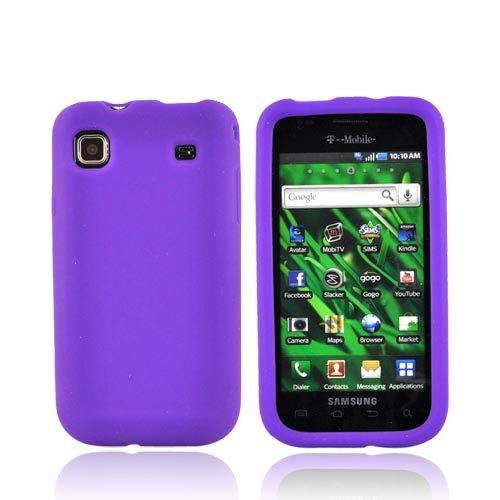 For Samsung Vibrant T959 Silicone Case Cover PURPLE