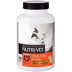 Nutri-Vet Fish Oil Softgels for Dogs, 100 Count