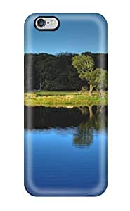 AmandaMichaelFazio Scratch-free Phone Case For Iphone 6 Plus- Retail Packaging - Blue Lake Reflection Trees Nature Other