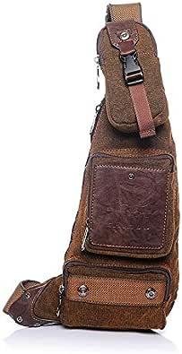 Bolsos de hombro Bolsos De Mensajero Para Hombres De Marca De Alta Calidad Diseño Impermeable Moda Lienzo Crossbody Chest Bag Casual Travel For Men