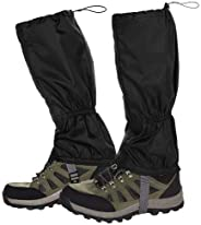 Kissral Hiking Gaiters Lightweight Leg Gaiters Snow Gaiters Waterproof Windproof Durable Leg Cover Protect for