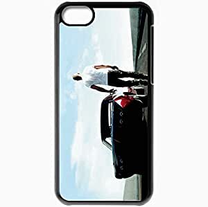 Personalized iPhone 5C Cell phone Case/Cover Skin Fast and furious 6 fast six vin diesel dominic toretto car road Movies Black