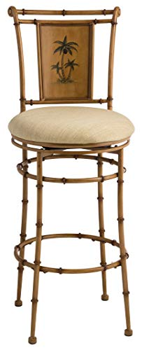Hillsdale Furniture 4330-830 West Palm Swivel Bar Height Stool, Burnished Brown (42 Height Inch Bar For Bar Stool)