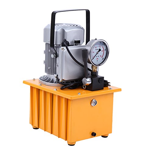 PanelTech Single Acting Manual Valve 10000 PSI Electric Driven Hydraulic Pump with Solenoid Valve 11L Large Oil Capacity 1400r/min High Pressure Electric Hydraulic Pump