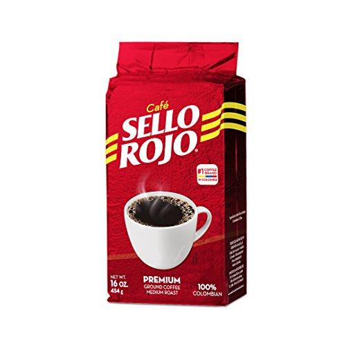 Colombian Coffee (Cafe Sello Rojo | Best selling coffee brand in Colombia | 100% Colombian medium roast ground arabica supremo coffee | Premium Coffee | Freshly vacuum packed in Origin)