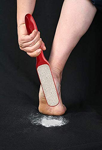 Foot File Pedicure - Probelle 2 Sided Callus Remover, Hypoallergenic Foot Peel in Foot Spa Quality, Premium Nickel Foot Scrubber and Foot File - Red
