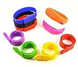 FEBNISCTE 10pcs Waterproof Bracelet Wristband 16gb USB Pen Drive U Disk