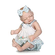 NPK Collection Tiny Reborn Baby Doll Full Silicone Anatomically Correct Girl 10inch 26cm Kids Bathing Doll Blue White Mini Dress