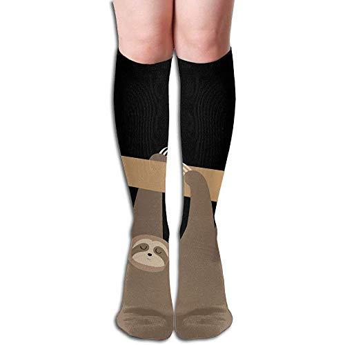 Baby Sloth Women's Fashion Knee High Socks Casual Socks