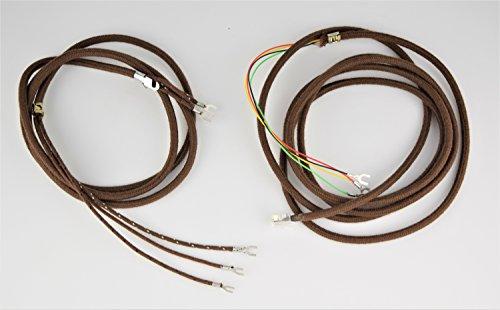 Vintage Antique Cloth Telephone Cords - Handset & Line - (Brown)