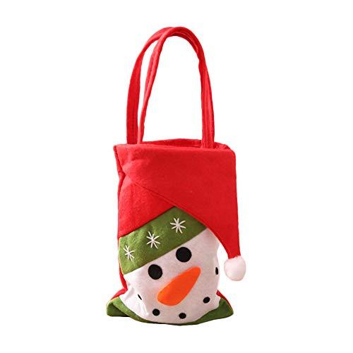 wsloftyGYd - Bolsa de Regalo de Navidad, diseño de Papá Noel, muñeco de Nieve, pingüino, Jengibre, Hombre, Navidad,...