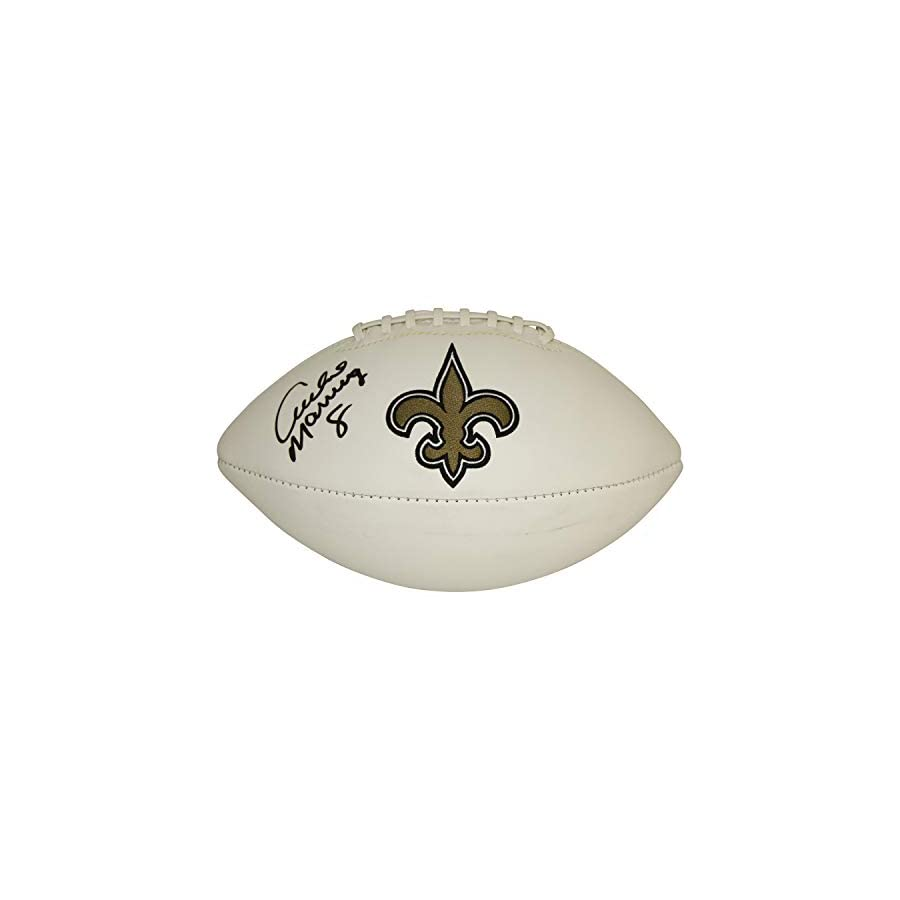 Archie Manning New Orleans Saints Autographed Signed White Panel Logo Football JSA