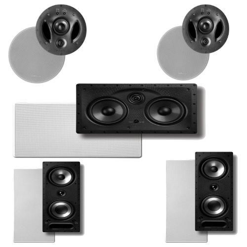 Polk Audio 900-LS High Performance in-Celing Speakers (Pair), Polk Audio 265-RT in-Wall Speakers (Pair) Plus A Polk Audio 255C-LS Center Channel Speaker ()