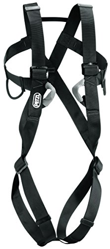 Full Body Climbing Harness (Petzl - 8003, Full-Body Harness for Adults, Size 1, Black)