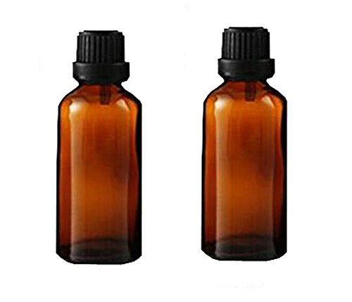2PCS Brown Glass Vial Essential Oil Bottles Attar Bottles Wi