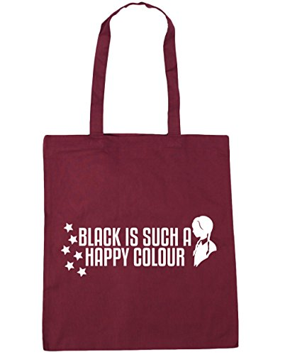 Black Happy Bag HippoWarehouse Shopping A x38cm 10 Colour Gym Is Beach Tote Burgundy litres 42cm Such dqWIvHwnI