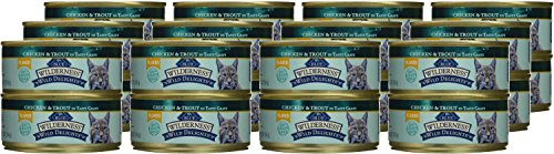 BLUE-Wilderness-Wild-Delights-Adult-Grain-Free-Flaked-Chicken-Trout-in-Tasty-Gravy-Wet-Cat-Food-55-oz-pack-of-24