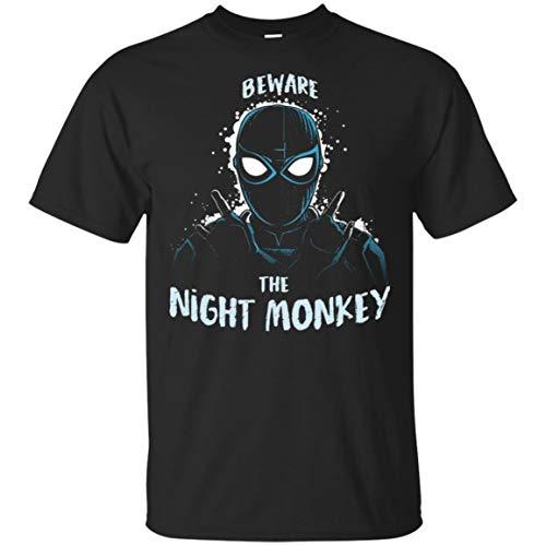 PIRDA Beware of The Night Monkey Funny Night Monkey Ultra Cotton Shirt Black