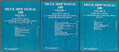 1989 ford truck repair shop manual set f150 f250 f350 bronco flip to back flip to front freerunsca Images