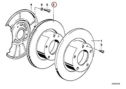 Amazon Com Bmw Zimmermann Front Brake Disc Rotor E30 318 325 318i