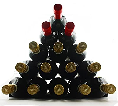 Winestakz Wine Storage System - Refrigerator or Bench Storage & Protection for Red Wine & White Wines. Securely Stack up to 15 Full Size Bottles. Reduce Wine Spoilage From the Cork Drying Out.