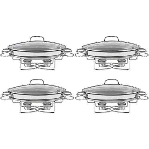 Cuisinart 7BSO-34 Stainless 13-1/2-Inch Oval Buffet Servers 4PK