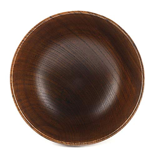 Wooden Bowl, Child Kid Wooden Handmade Bowl Food Container Heat-Resistant Tableware Soup Bowl Fruit Bowl by GLOGLOW (Image #2)