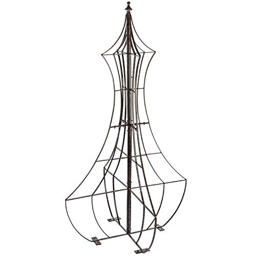 lis for Climbing Plants Wrought Iron Metal Yard Art for Patio Deck or Garden ()