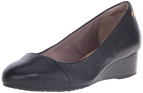 Black Hush Admire Puppies Pump Britt Women's Leather Wedge YqYr6wp