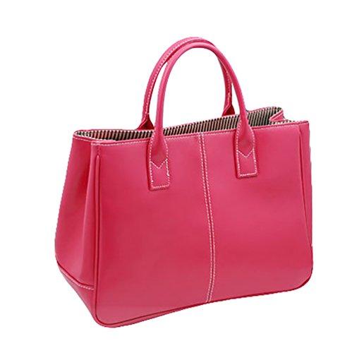 Tracolla Sentao Shopper Pure Spalla Borsetta PU Borsa a Capacità Grande Color Borse Rose Cuoio Donna XnrxwqTpX