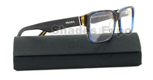 Eyeglasses Prada PR 16MV ZXH1O1 TORTOISE DENIM DEMO LENS 55mm
