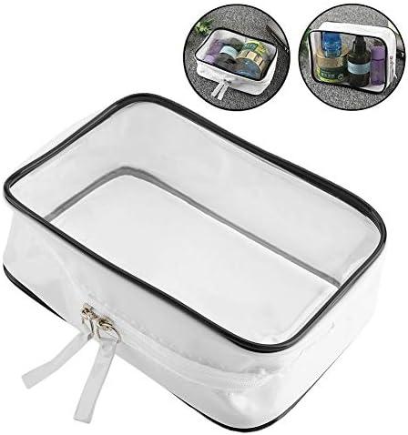 透明大容量メイクアップバッグ、防水PVCビニールジッパー付きトラベルウォッシュトイレタリー化粧品オーガナイザーボックス、休暇用、トリップアクセサリーシャンプー
