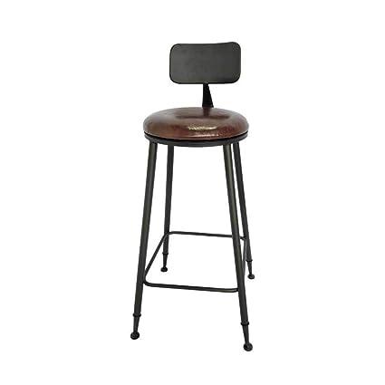 Awesome Amazon Com Metal Bar Stools Kitchen Pub Backrest Footrest Machost Co Dining Chair Design Ideas Machostcouk