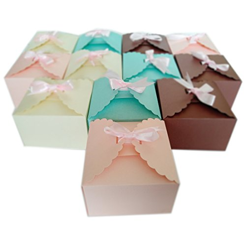 MissShorthair Gift Boxes,12 Pack Solid Color Decorative Boxes for Small Gifts,Favor Boxes for Christmas,Wedding,Birthday,Party,Holidays Holiday Treats Gift